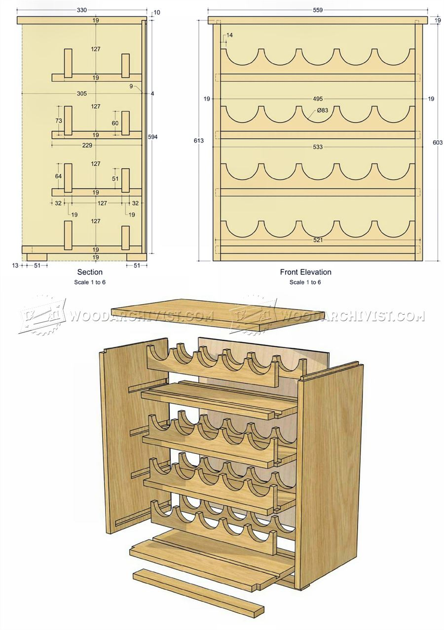 Wine Rack Plans Woodarchivist