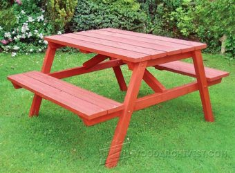 2233-Garden Picnic Table Plans