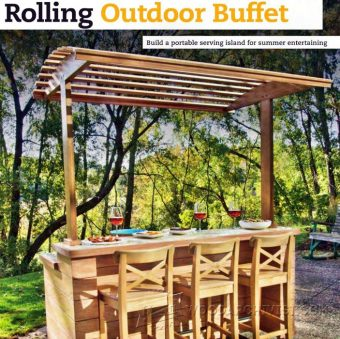 2234-Rolling Outdoor Buffet Table Plans