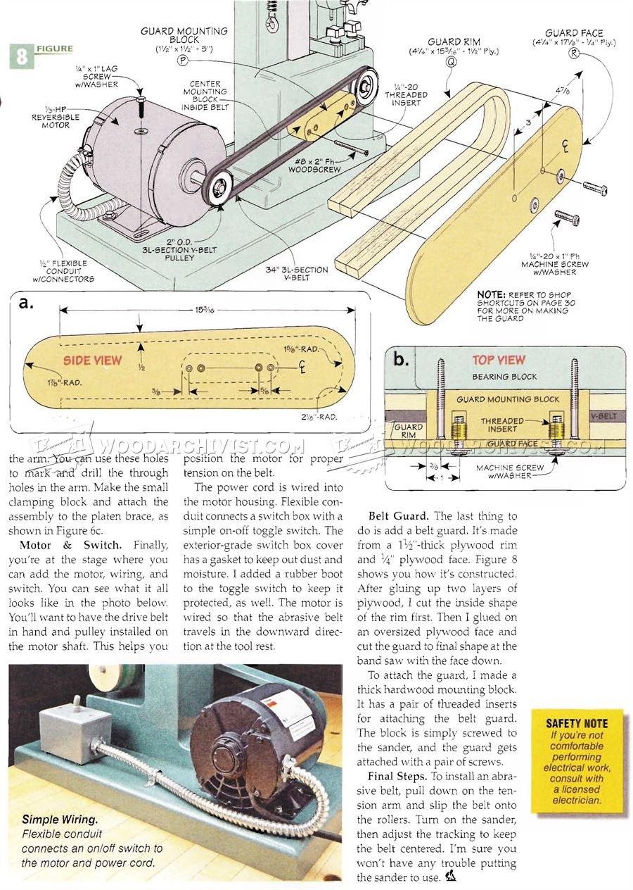 Belt Sander Plans - Sanding Wood Sharpening