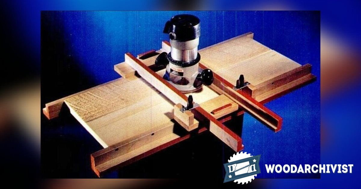 Router Surfacing Jig Woodarchivist
