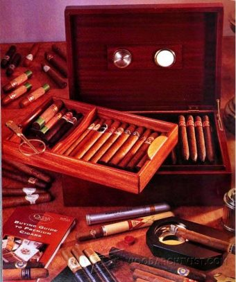 2251-Mahogany Cigar Humidor Plans