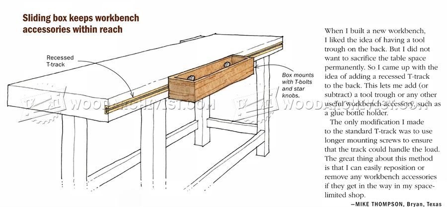 Workbench Sliding Box