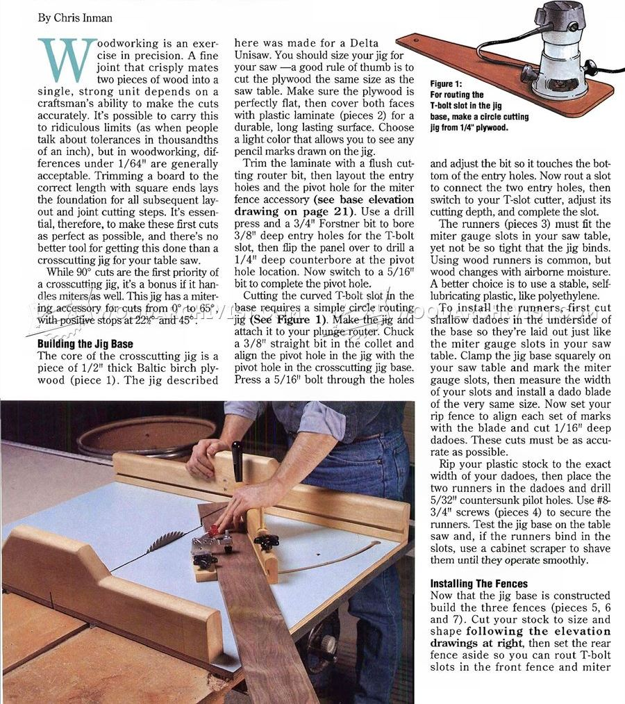 Table Saw Crosscut Jig