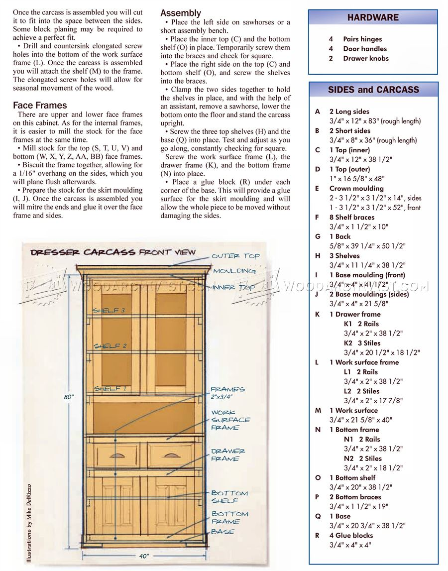 Kitchen Dresser Plans