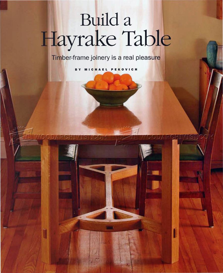 Hayrake Table Plans