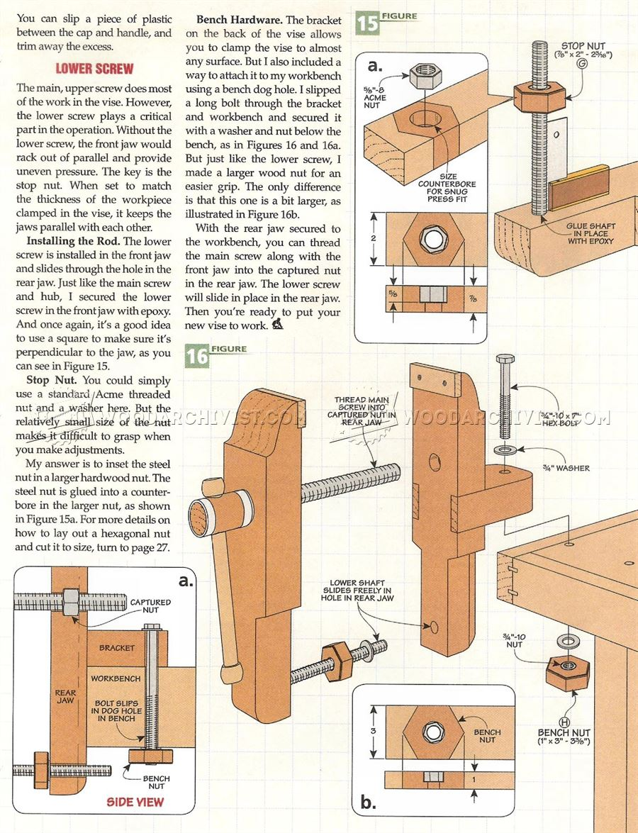 #2256 Bench Vise Plans