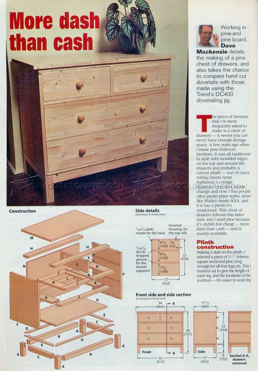 How To Make Drawers Make Chest Of Drawers O Woodarchivist