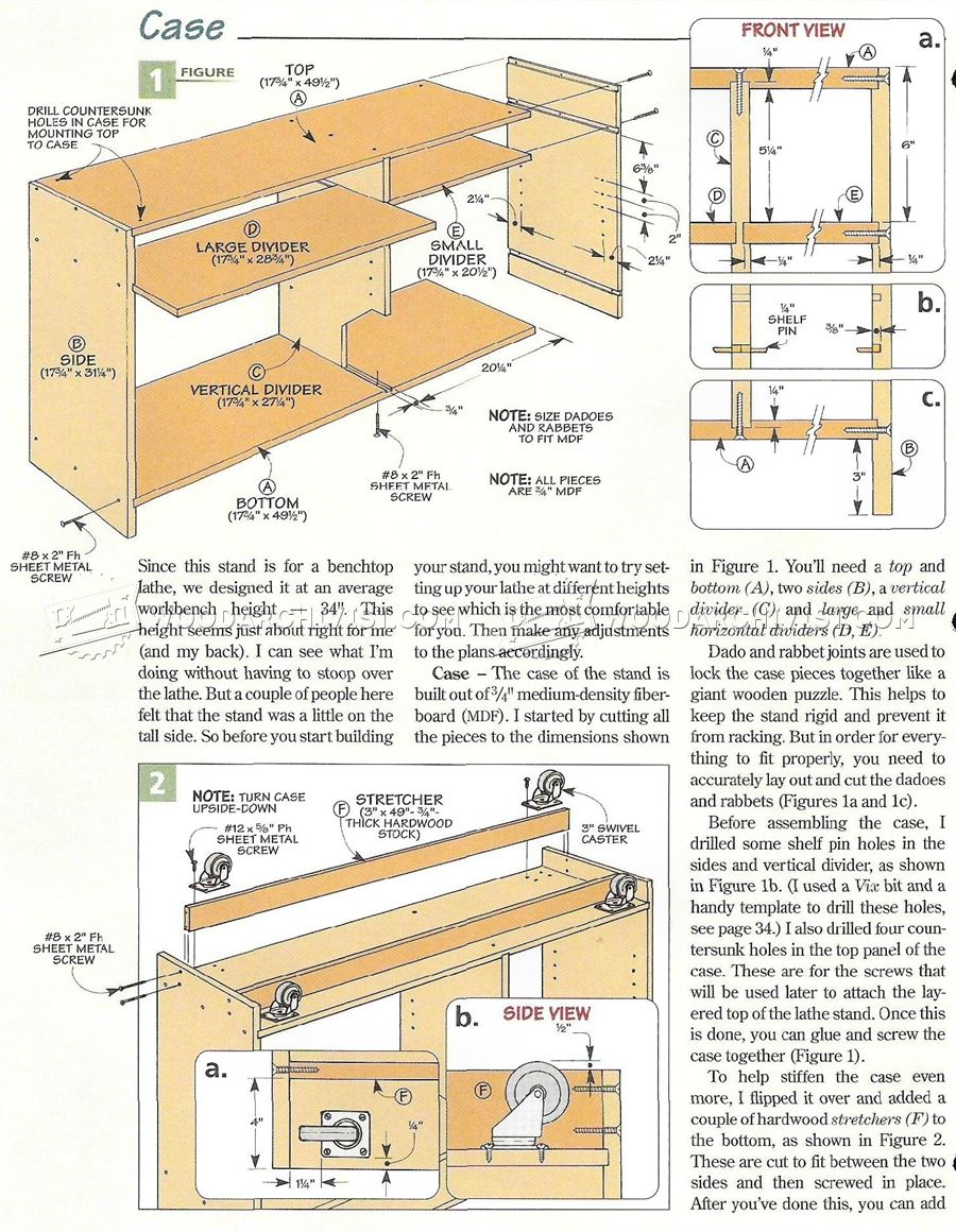 #2260 Mini Lathe Stand Plans