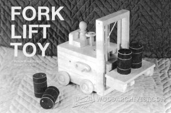 2263-Wooden Toy Forklift