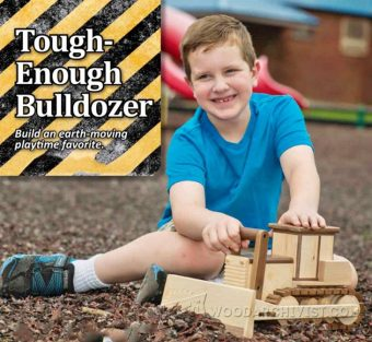 2266-Wooden Toy Bulldozer Plans