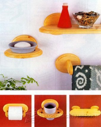 2267-Wooden Bathroom Accessories