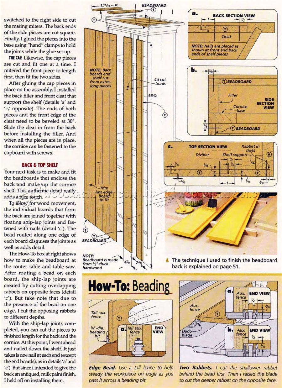 Stepback Cupboard Plans Woodarchivist