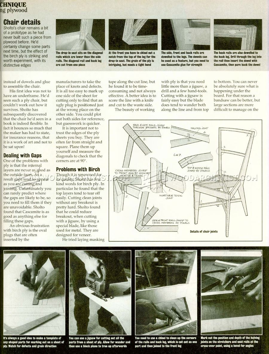Plywood Chair Plans