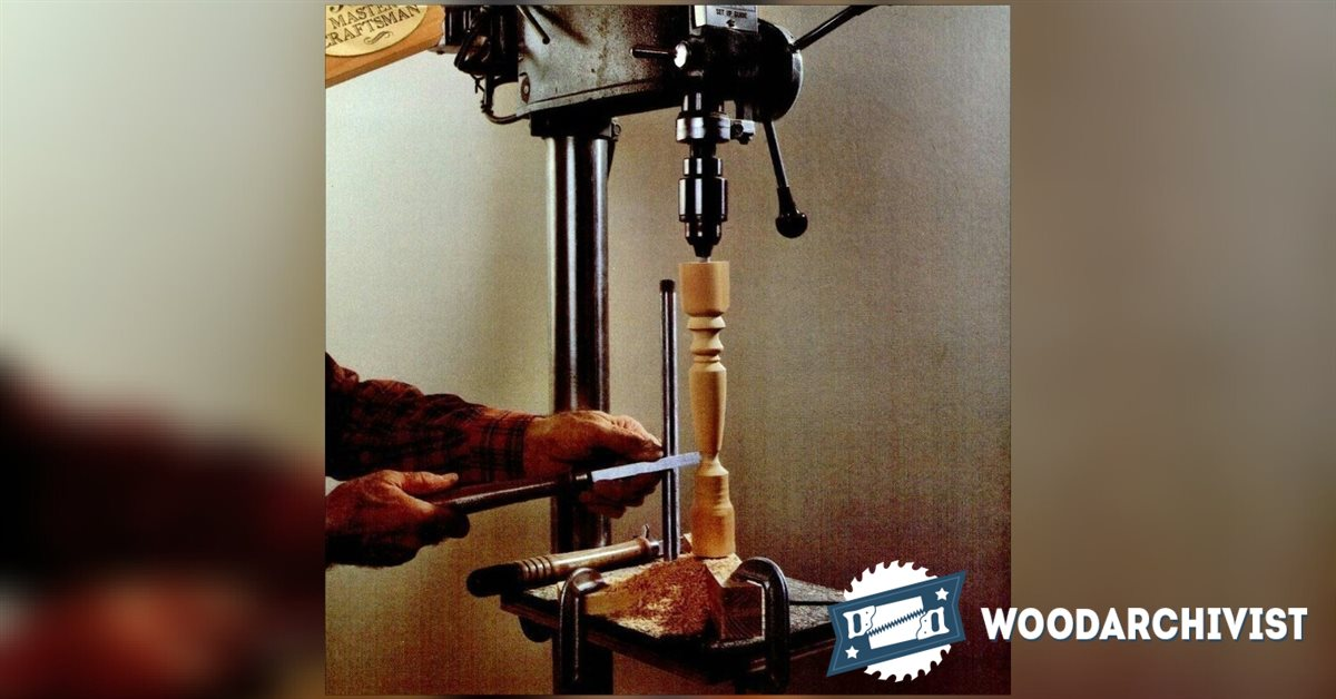 Diy Drill Press Lathe Woodarchivist
