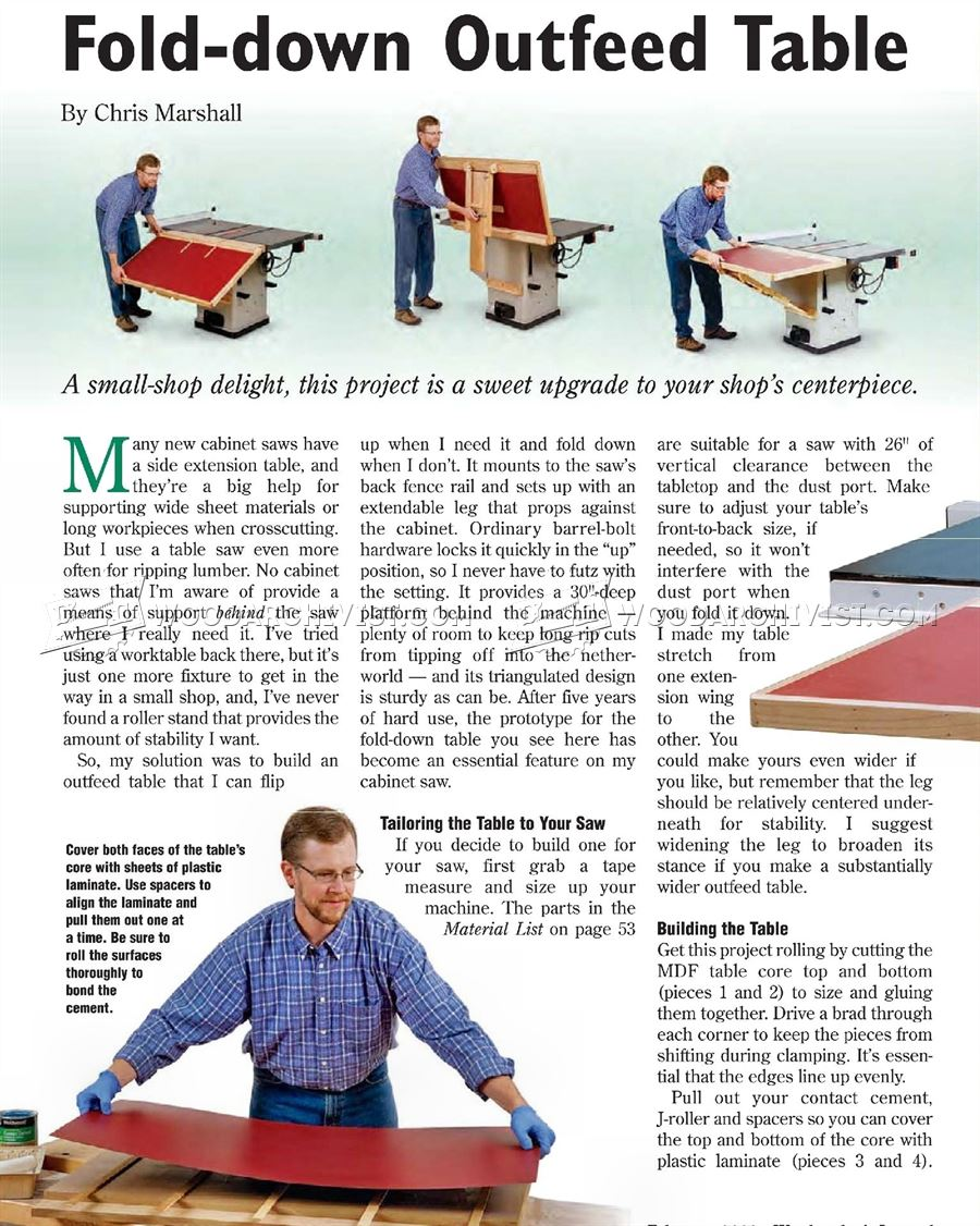Build Table Saw Outfeed Table