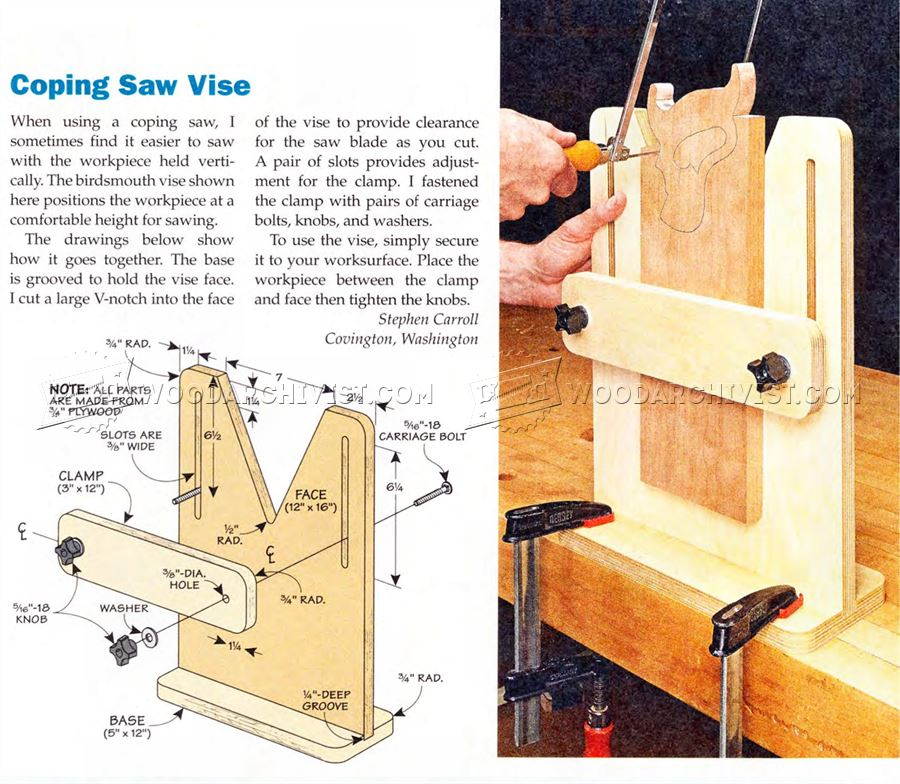 Coping Saw Vise