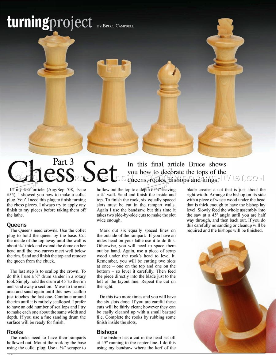 Woodturning Chess