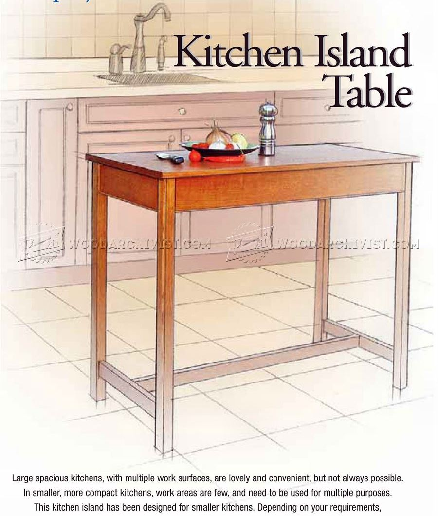 Kitchen Island Table Plans