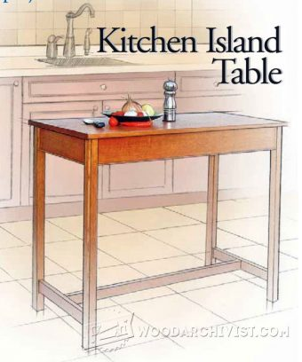 2294 kitchen island table plans