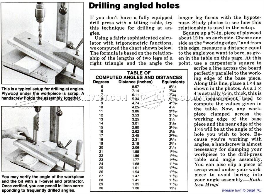 Drilling Angled Holes