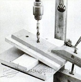 Drill Press Angle Jig Woodarchivist