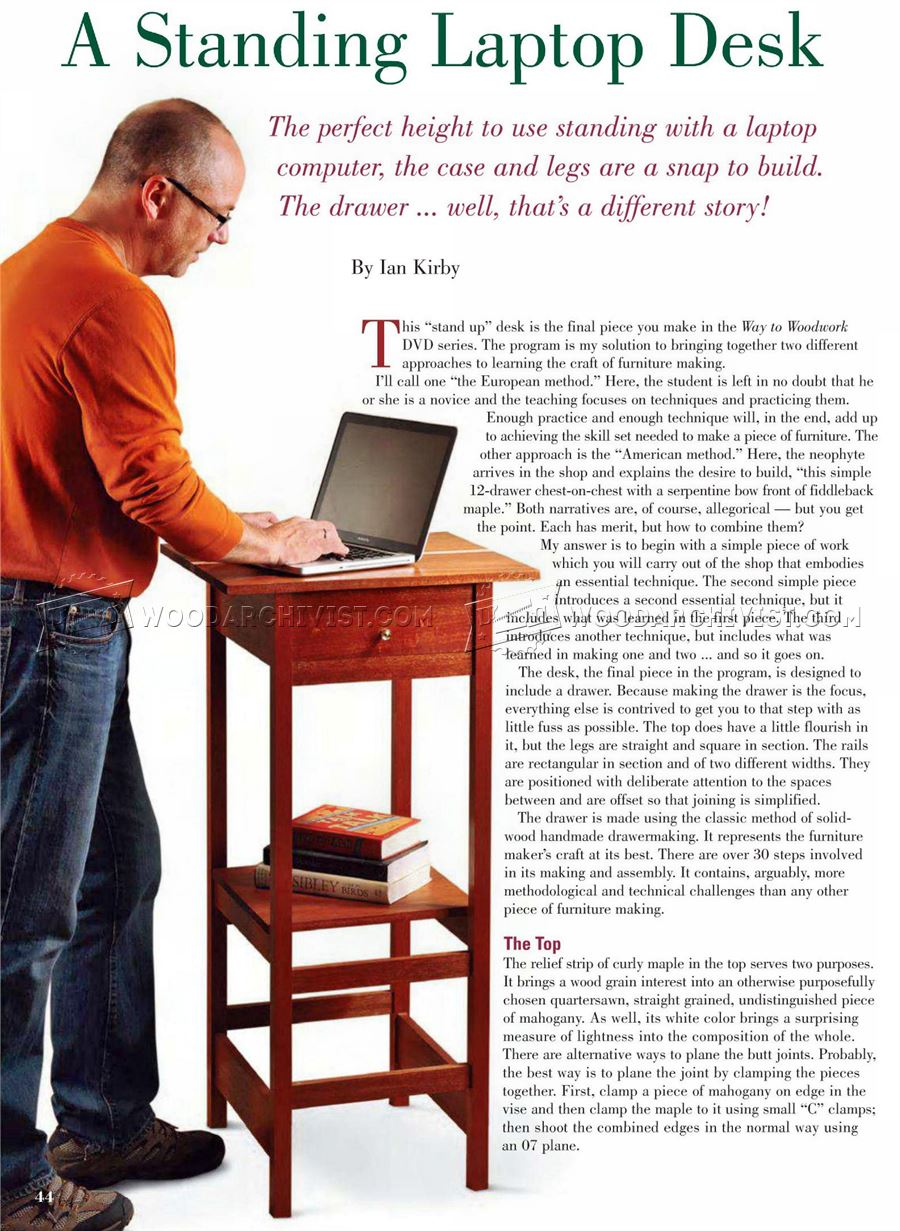 Standing Laptop Desk Plans