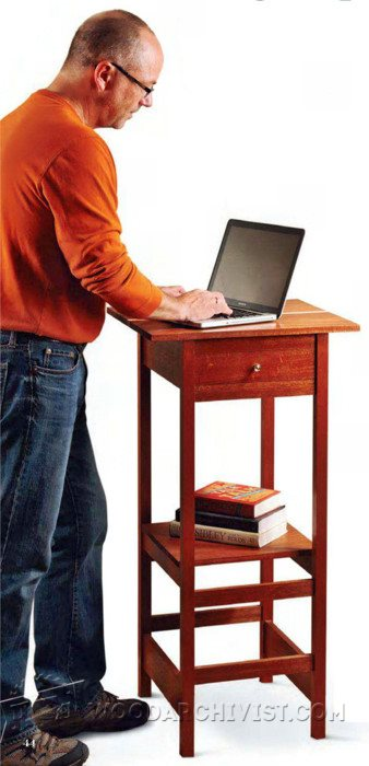 2297-Standing Laptop Desk Plans