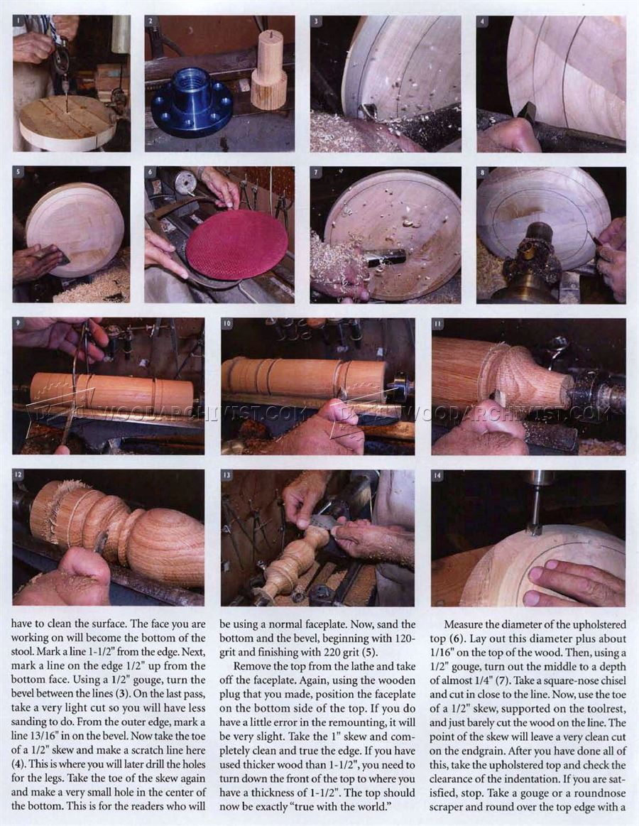 Footstool - Woodturning Projects