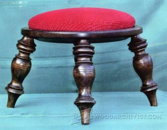 2299-Footstool - Woodturning Projects