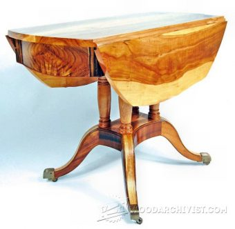 2300-Drop Leaf Table Plans
