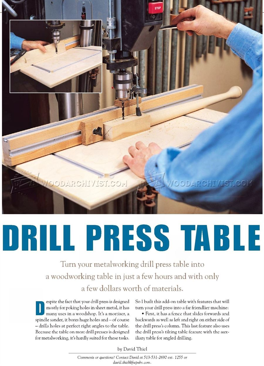 DIY Drill Press Table