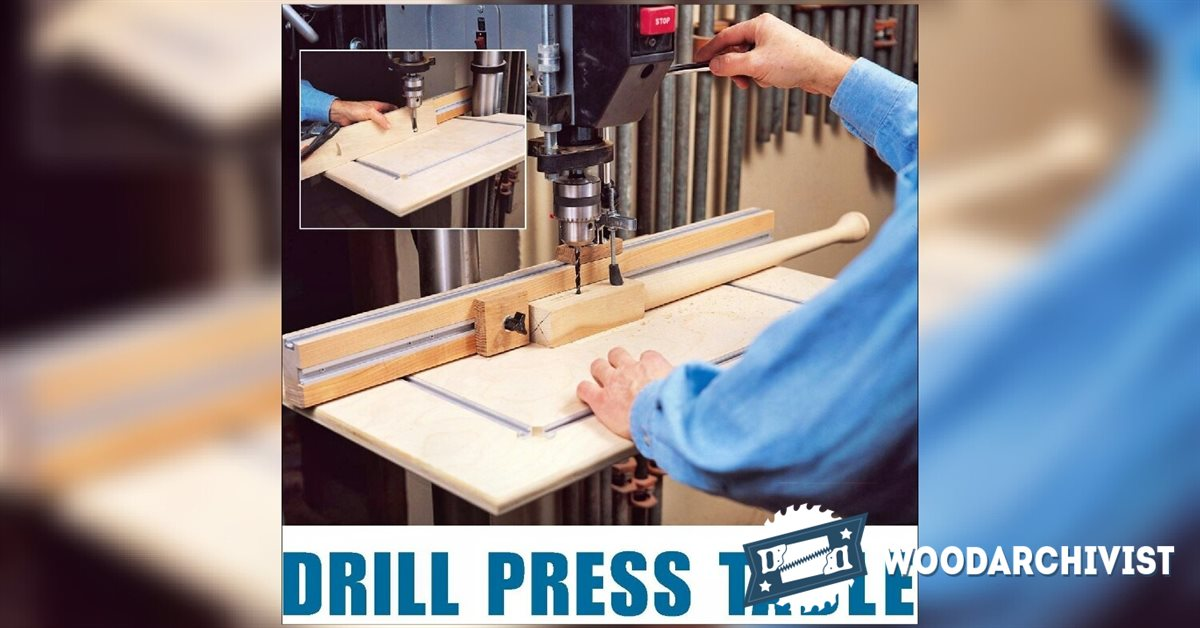 Diy Drill Press Table Woodarchivist