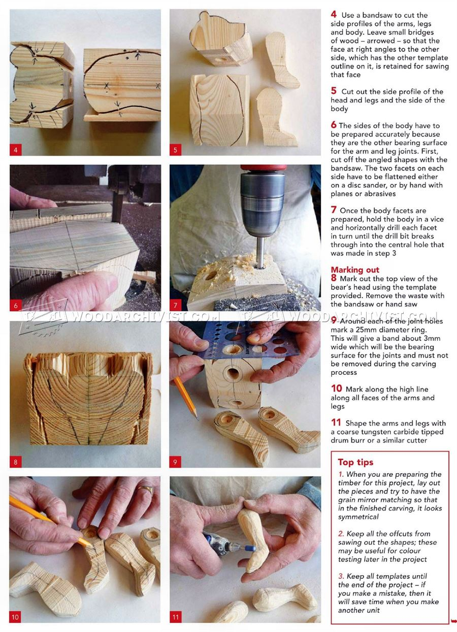 Carving Teddy Bear - Wood Carving Patterns