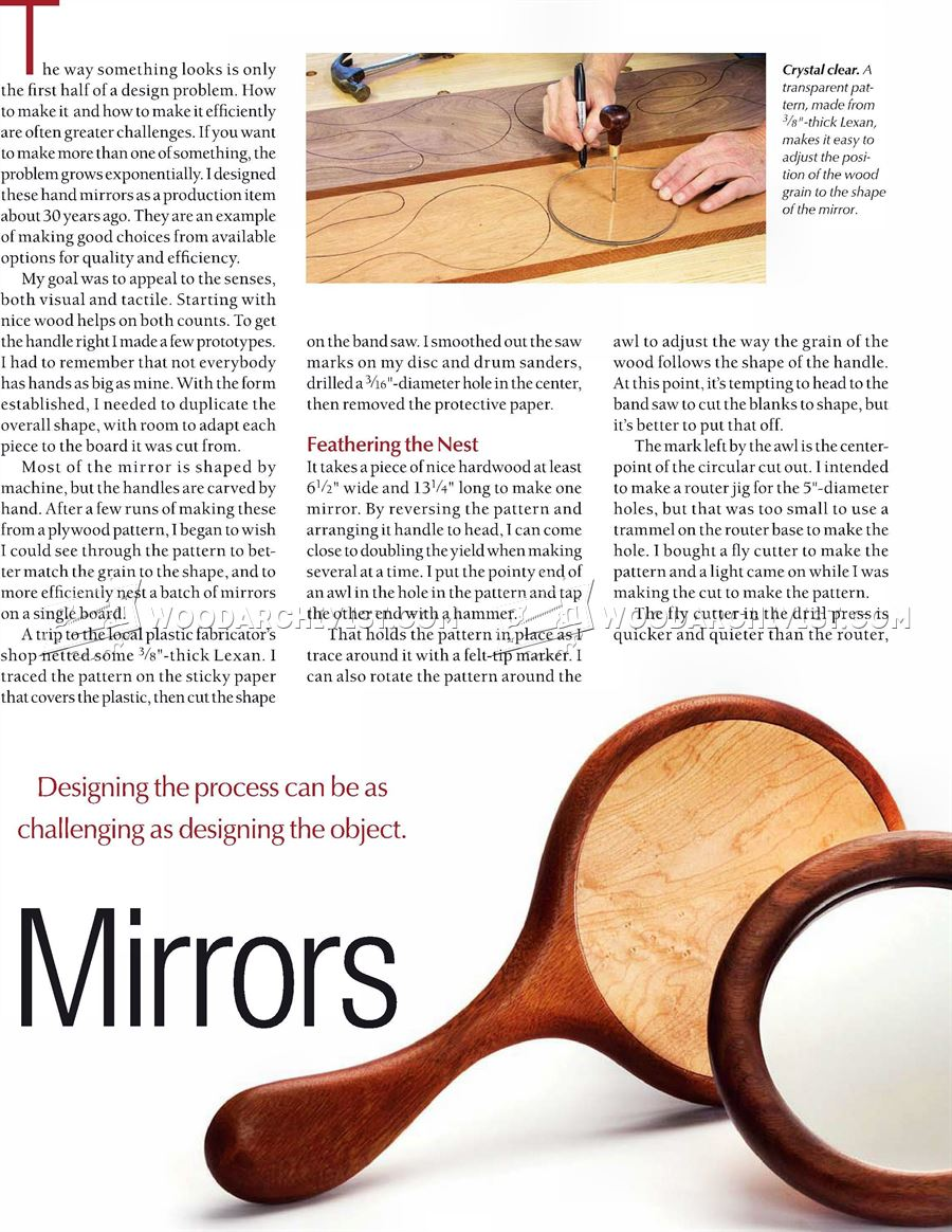 Making Wooden Hand Mirror