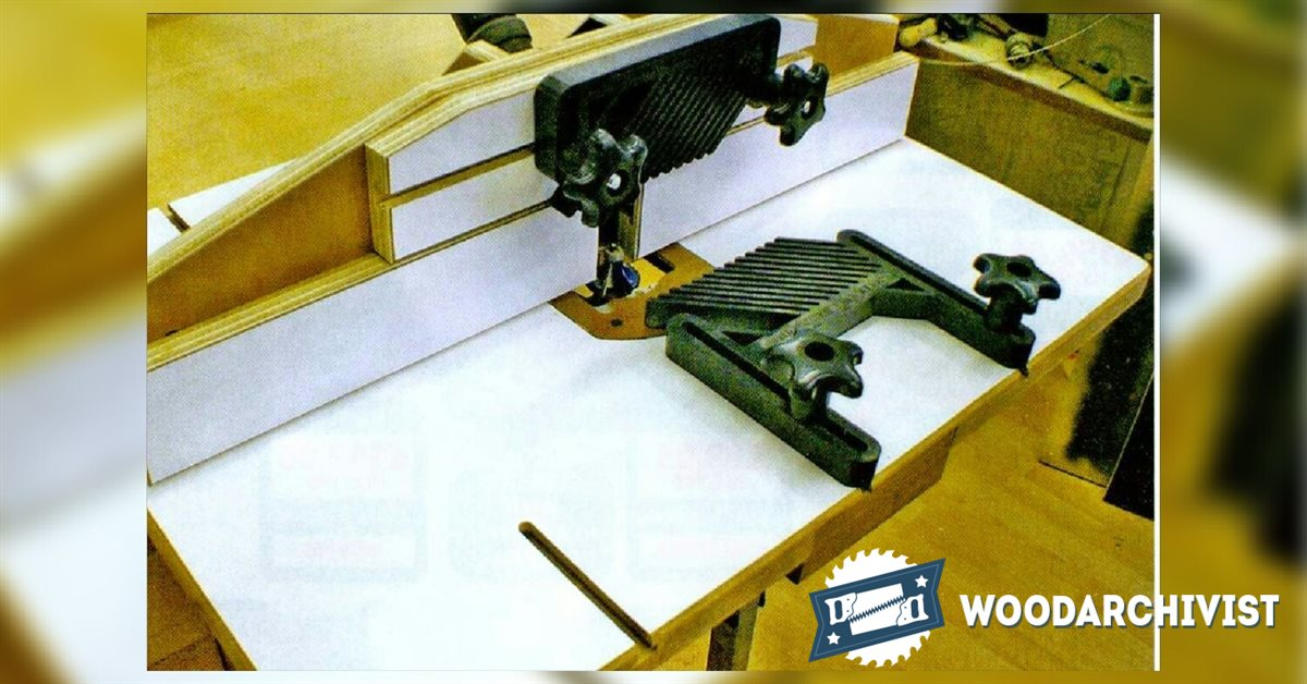 Making router table top woodarchivist for Making a router table
