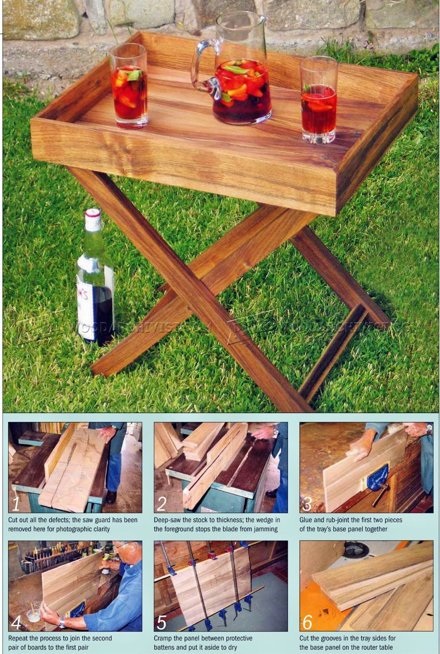 Butler Tray Table Plans