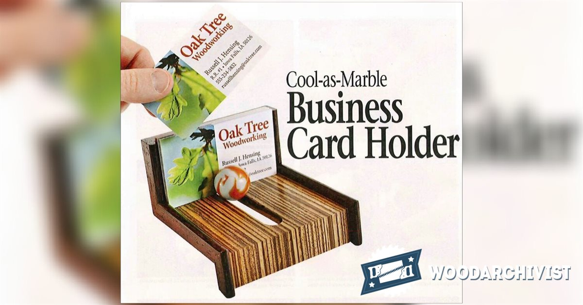 Wood Business Card Holder Plans