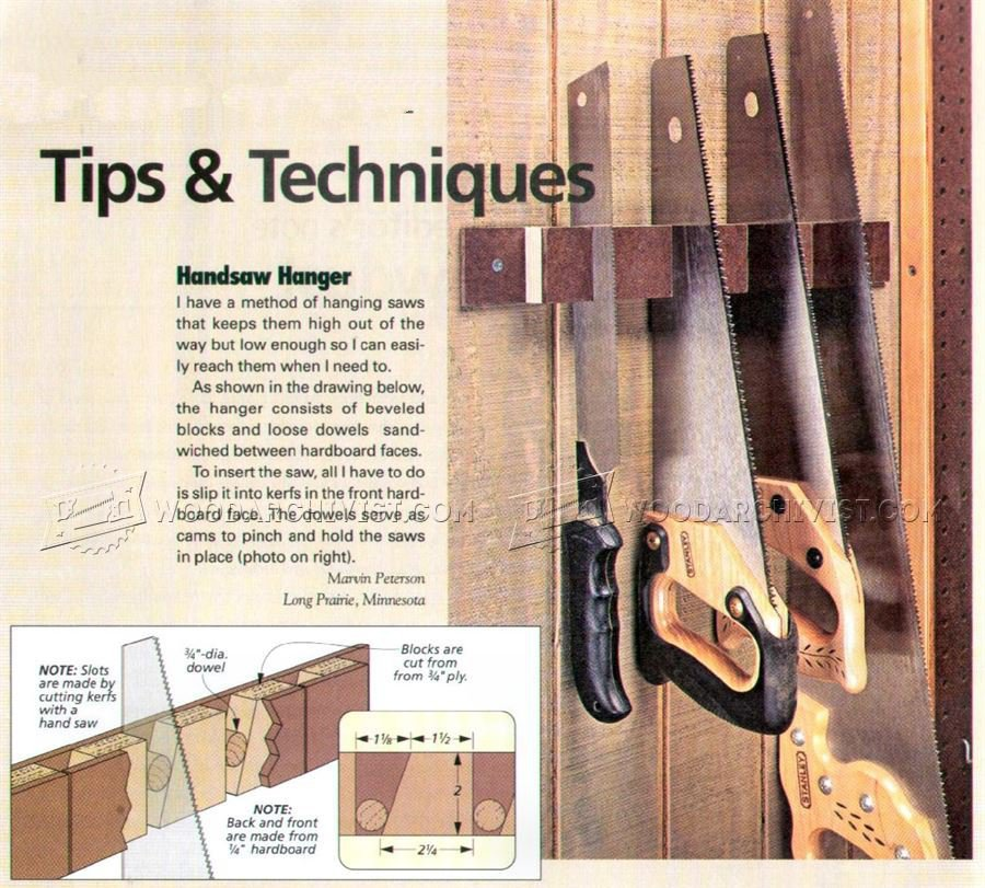 #2315 DIY Hand Saw Holder