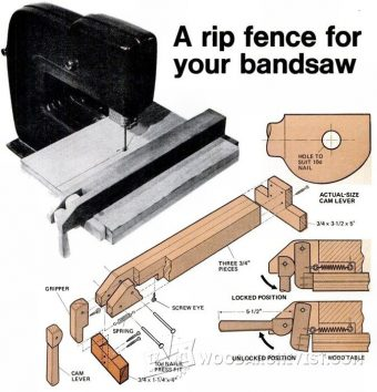 2324-Band Saw Rip Fence Plans