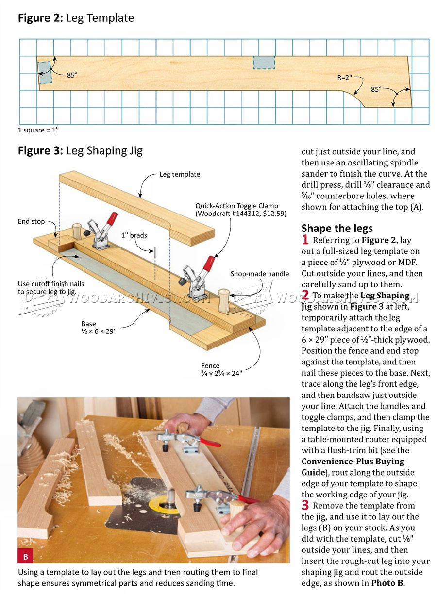 2329 Arts and Crafts End Table Plans - Furniture Plans