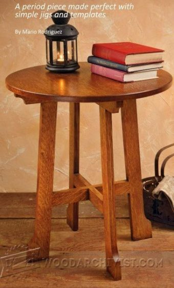 2329-Arts and Crafts End Table Plans