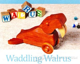 2330-Waddling Walrus Pull Toy Plans
