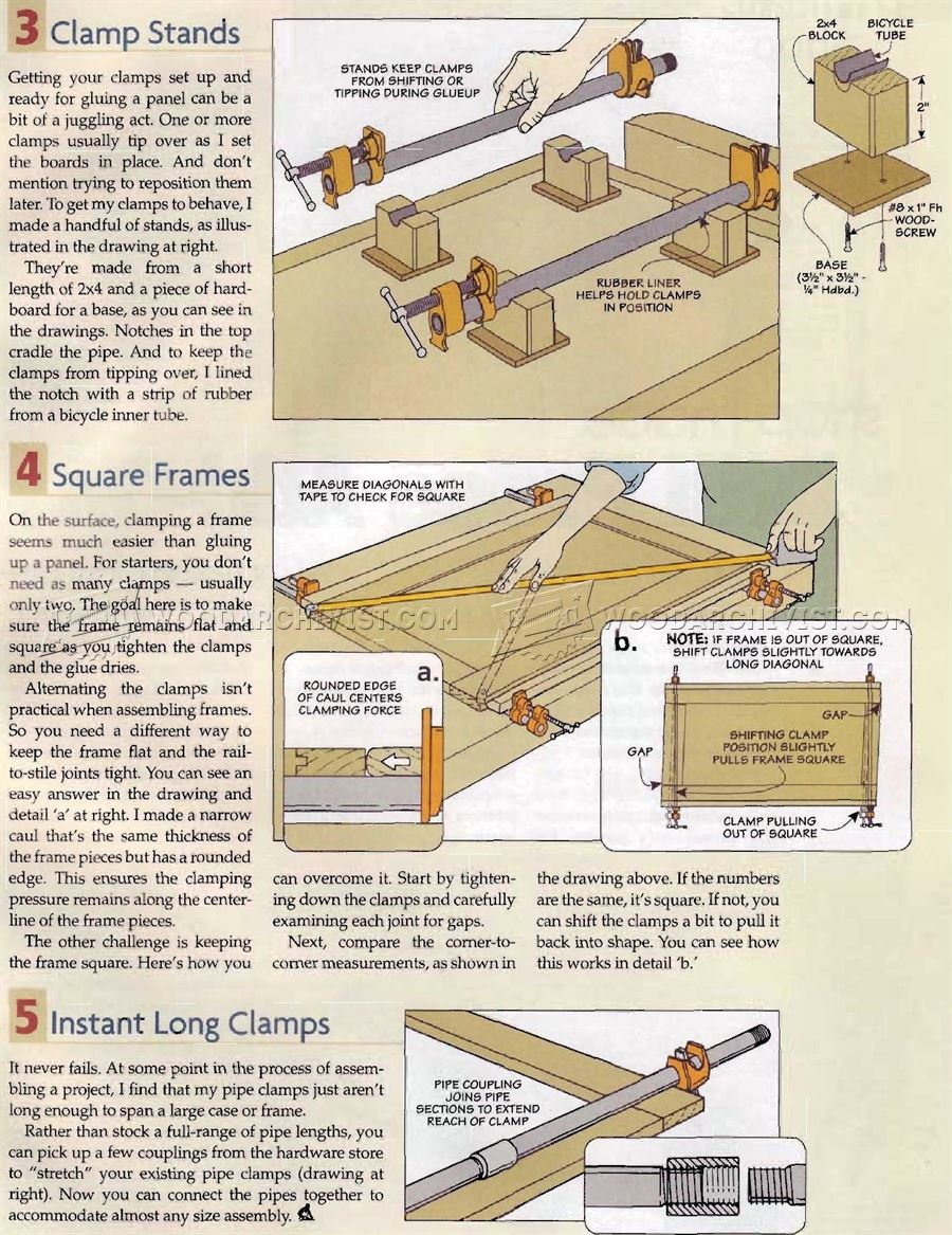 Using Pipe Clamps for Woodworking