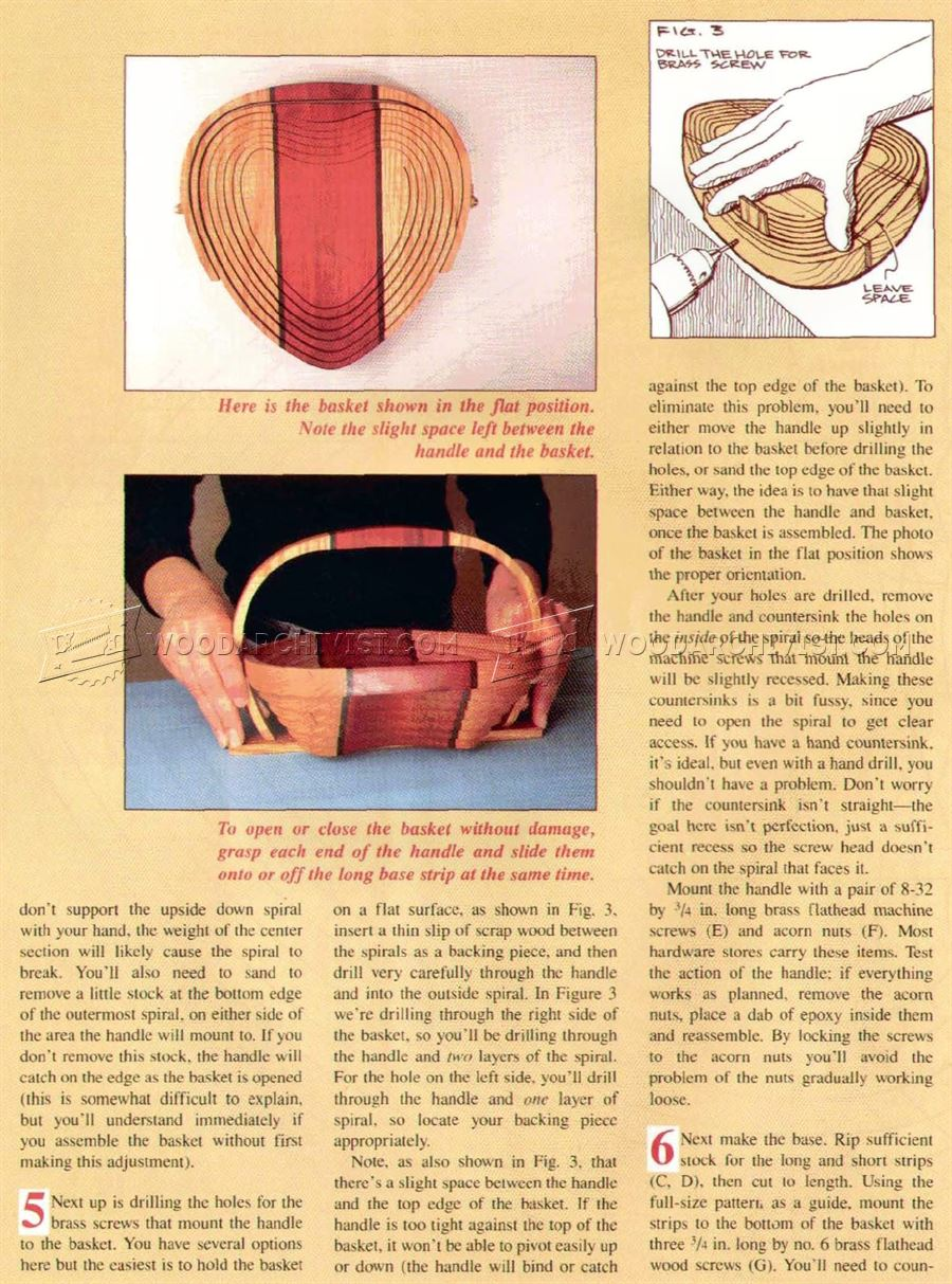 Collapsible Wooden Basket Plans