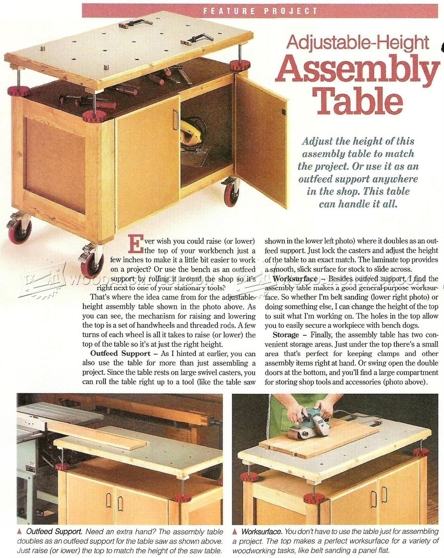 #2340 Assembly Table Plans