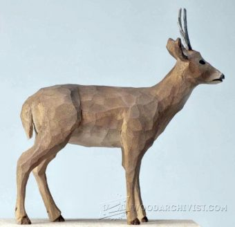 2344-Reindeer Carving - Wood Carving Patterns