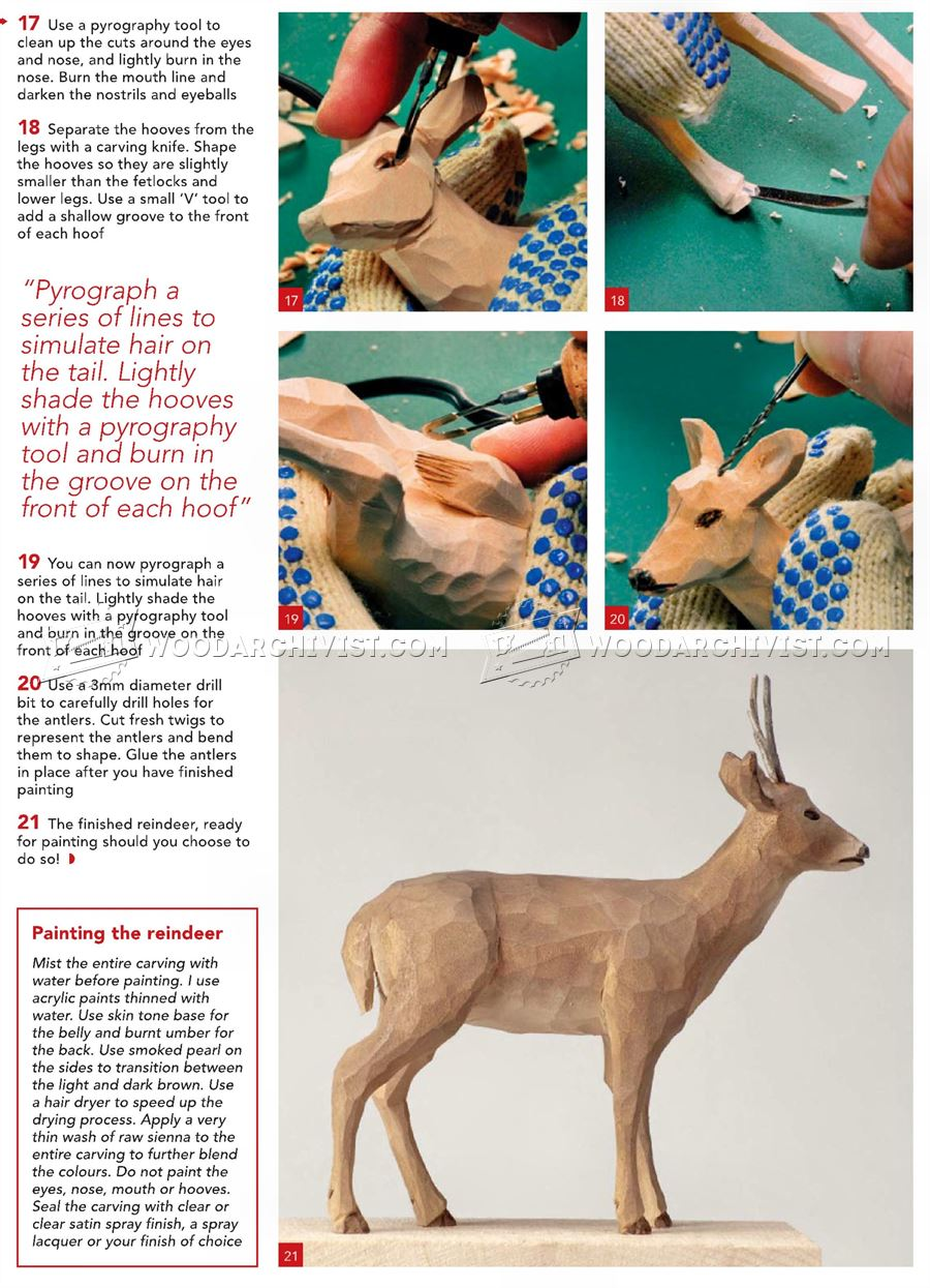Reindeer Carving - Wood Carving Patterns