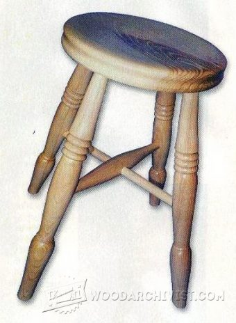 2345-Woodturning Stool