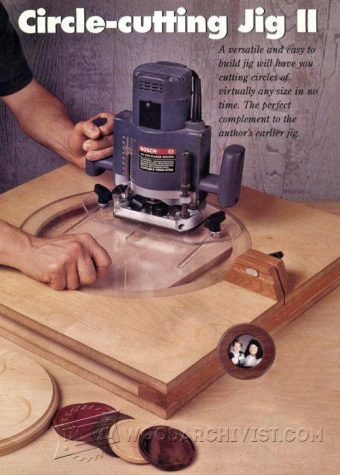 2346-Router Circle Cutting Jig Plans